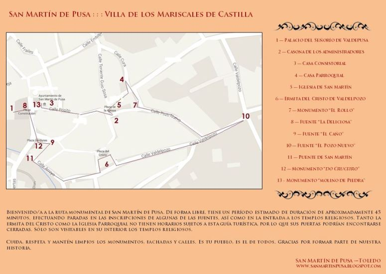 Ruta monumental San Martín de Pusa